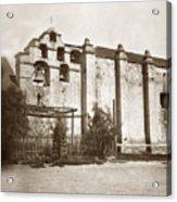 The Campanario, Or Bell Tower Of San Gabriel Mission Circa 1880 Acrylic Print