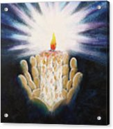 The Candle Of The Lord Acrylic Print