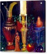 The Candlestick And Pitcher Acrylic Print