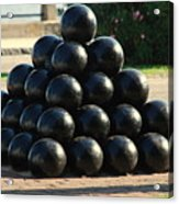 The Cannonballs At The Battery In Charleston Sc Acrylic Print