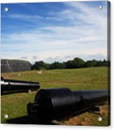 The Cannons At Fort Moultrie In Charleston Acrylic Print
