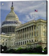 The Capitol Under Construction Acrylic Print