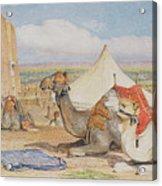 The Caravan, An Arab Encampment At Edfou Acrylic Print