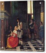 The Card Players Acrylic Print by  Pieter de Hooch