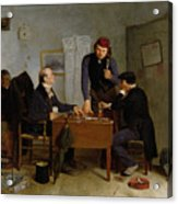 The Card Players Acrylic Print by  Richard Caton Woodville