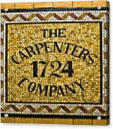 The Carpenters Company Acrylic Print
