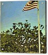 The Casements Flag Flying Acrylic Print