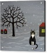 The Cat Is Waiting  Acrylic Print
