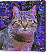 The Cat Who Loved Flowers 3 Acrylic Print