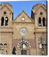 The Cathedral Basilica Of St. Francis Of Assisi, Santa Fe, New M Acrylic Print
