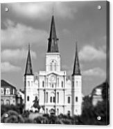 The Cathedral - Bw Acrylic Print