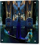 The Cave Temple Of Lhariahn Acrylic Print