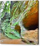 The Caves At Old Man's Gorge Trail Hocking Hills Ohio Acrylic Print