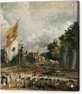 The Celebration In East Bergholt Of The Peace Of 1814 Concluded In Paris  Acrylic Print
