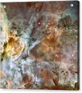 The Central Region Of The Carina Nebula Acrylic Print by Stocktrek Images
