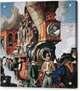 The Ceremony Of The Golden Spike On 10th May Acrylic Print