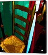 The Chair Acrylic Print by Mindy Newman