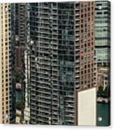 The Chandler Condominiums Building Chicago Aerial Acrylic Print