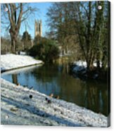 The Cherwell. Acrylic Print by Mike Lester