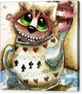 The Cheshire Cat - In A Teapot Acrylic Print