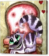 The Cheshire Cat - Lovely Sofa Acrylic Print