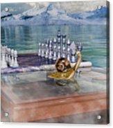 The Chess Game Acrylic Print