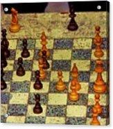 The Chess Game, New York City C. 1977 Acrylic Print