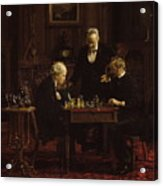 The Chess Players Acrylic Print