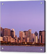 The Chicago Skyline At Sunrise Acrylic Print