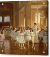 The Children's Dance Recital At The Casino De Dieppe Acrylic Print