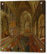 The Choir - Canterbury Cathedral Acrylic Print