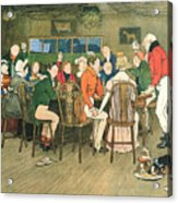 The Christmas Dinner At The Inn Acrylic Print
