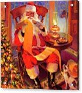The Christmas List Acrylic Print