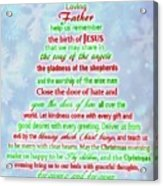 The Christmas Prayer Acrylic Print