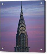 The Chrysler Building At Dusk Acrylic Print