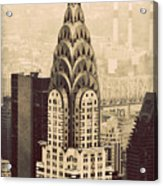 The Chrysler Building New York Acrylic Print