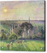 The Church And Farm Of Eragny Acrylic Print by Camille Pissarro