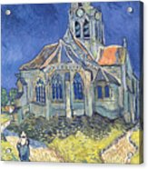 The Church At Auvers Sur Oise Acrylic Print by Vincent Van Gogh