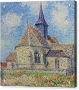 The Church At Porte-joie On The Eure By Gustave Loiseau Acrylic Print