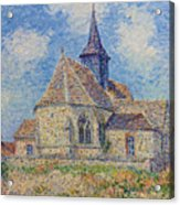 The Church At Porte-joie On The Eure Acrylic Print