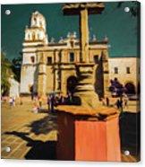 The Church Of San Juan Bautista Of Coyoacan 2  Acrylic Print