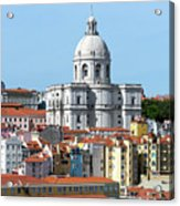 The Church Of Santa Engracia And Rooftops -- Lisbon Acrylic Print