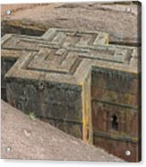 The Church Of St. George In Lalibela, Ethiopia Acrylic Print