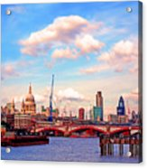 The City Of London By Day Acrylic Print