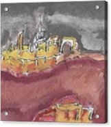 The City Of Nineveh With Stormfront Acrylic Print