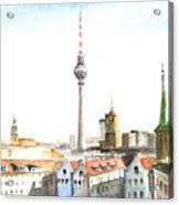 The Cityscape Of Berlin Acrylic Print