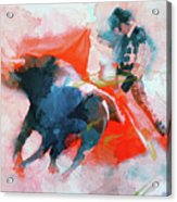 The Clash Of Power And Will Acrylic Print