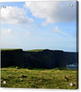 The Cliff's Of Moher In Ireland With Beautiful Skies Acrylic Print