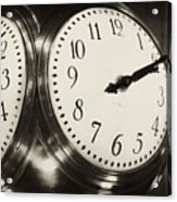 The Clock At Grand Central Acrylic Print