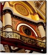 The Clock In The Union Station Nashville Acrylic Print